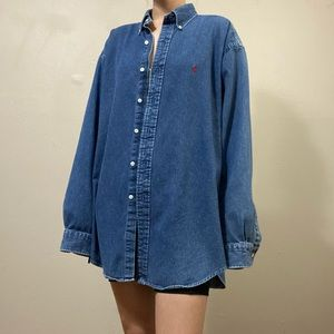 Polo Ralph Lauren denim jean button down shirt